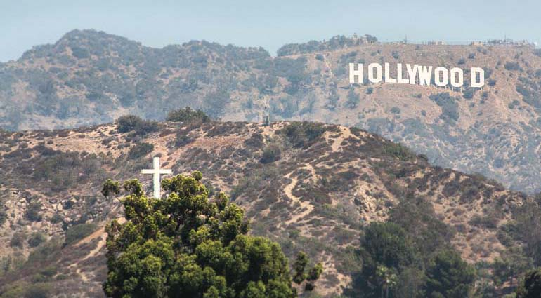 The Hollywood Hills Cross