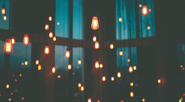 Mit eingeschaltetem Licht